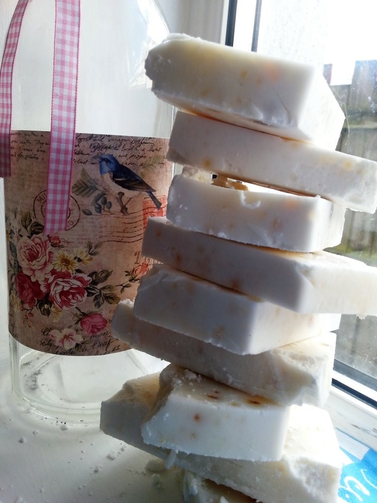 Olive oil and shea butter soaps